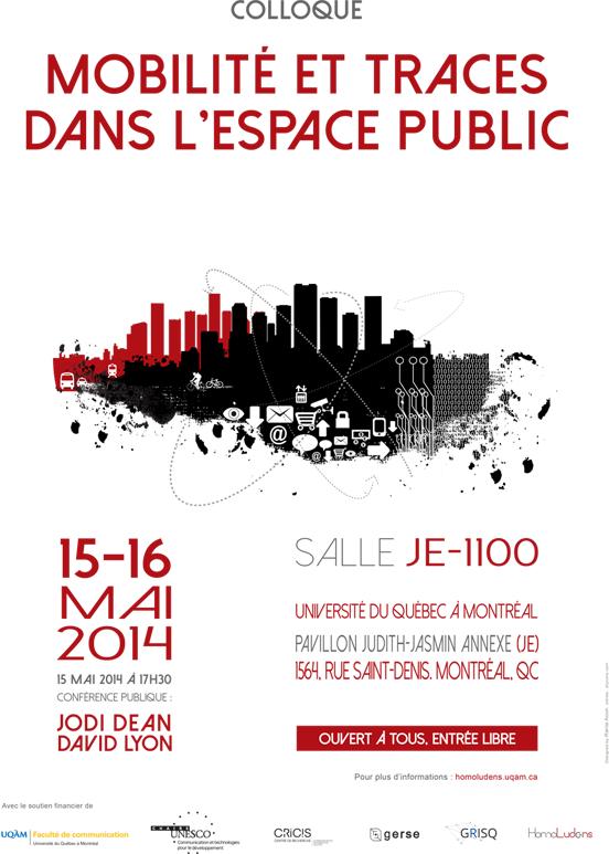 Affiche Colloque mobilite et traces dans lespace public